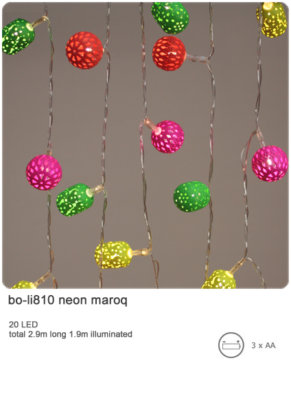 neon maroq indoor decorative light chain 20 led light chain battery