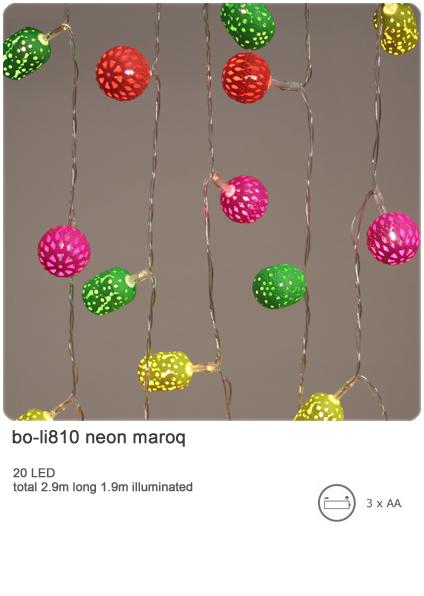 neon maroq indoor decorative light chain 20 led light chain battery