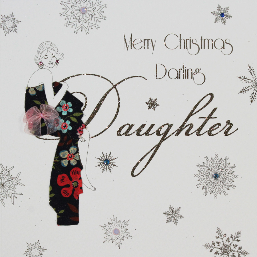 merry christmas darling daughter handmade christmas card mbx15 tilt art - Merry Christmas Daughter