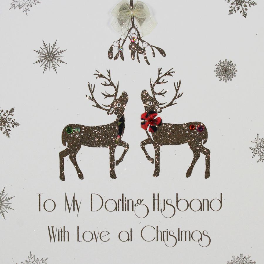 To My Darling Husband - Handmade Christmas Card - MBX20 - Tilt Art