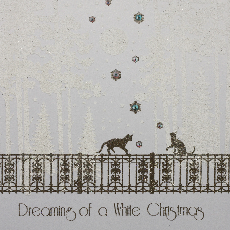 Dreaming Of A White Christmas.Dreaming Of A White Christmas Handmade Open Christmas Card Mk5