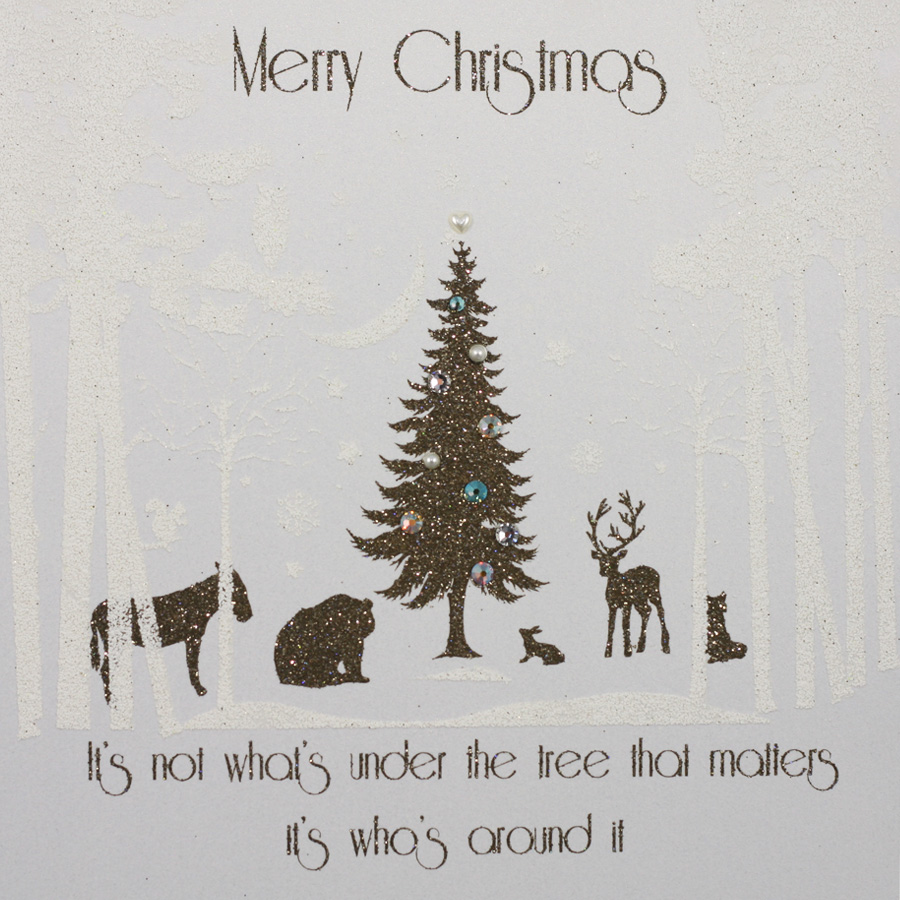 It\'s Not What\'s Under The Tree - Handmade Open Christmas Card - MK9 ...