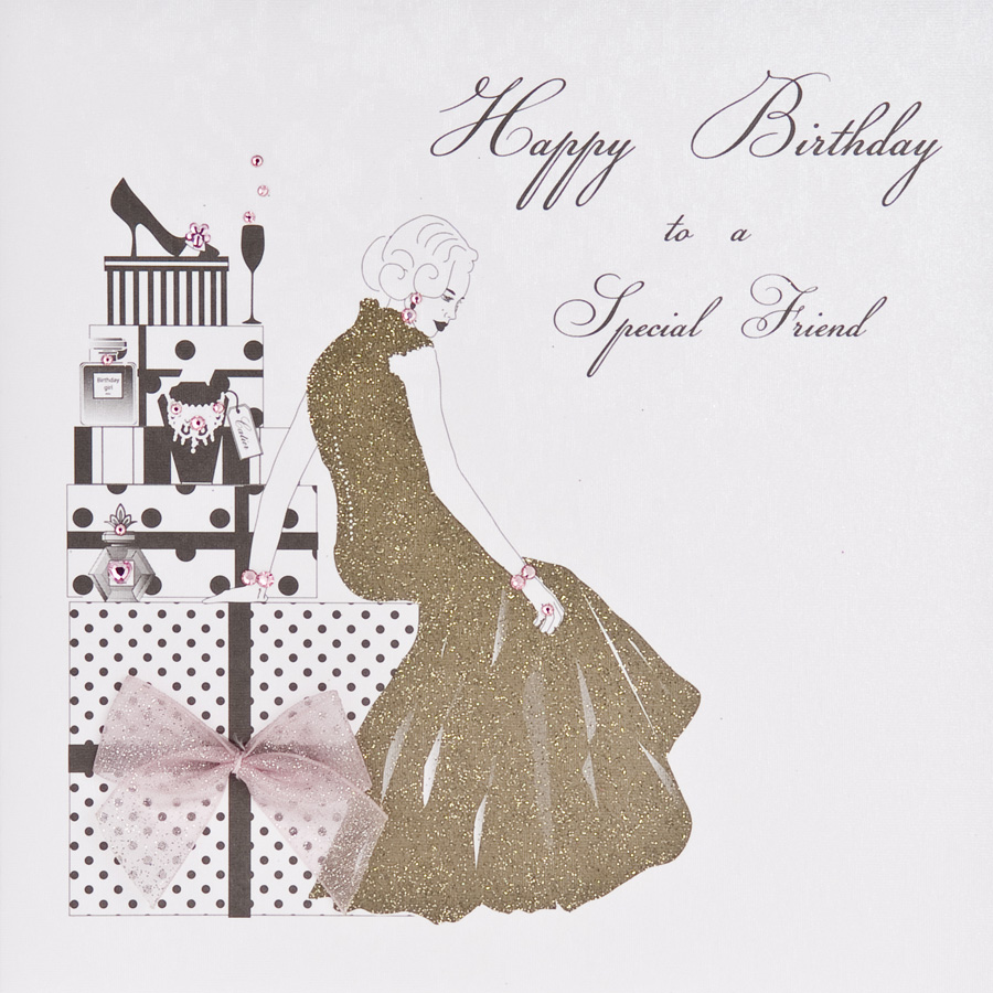 Friend Special Handmade Birthday Card ET17