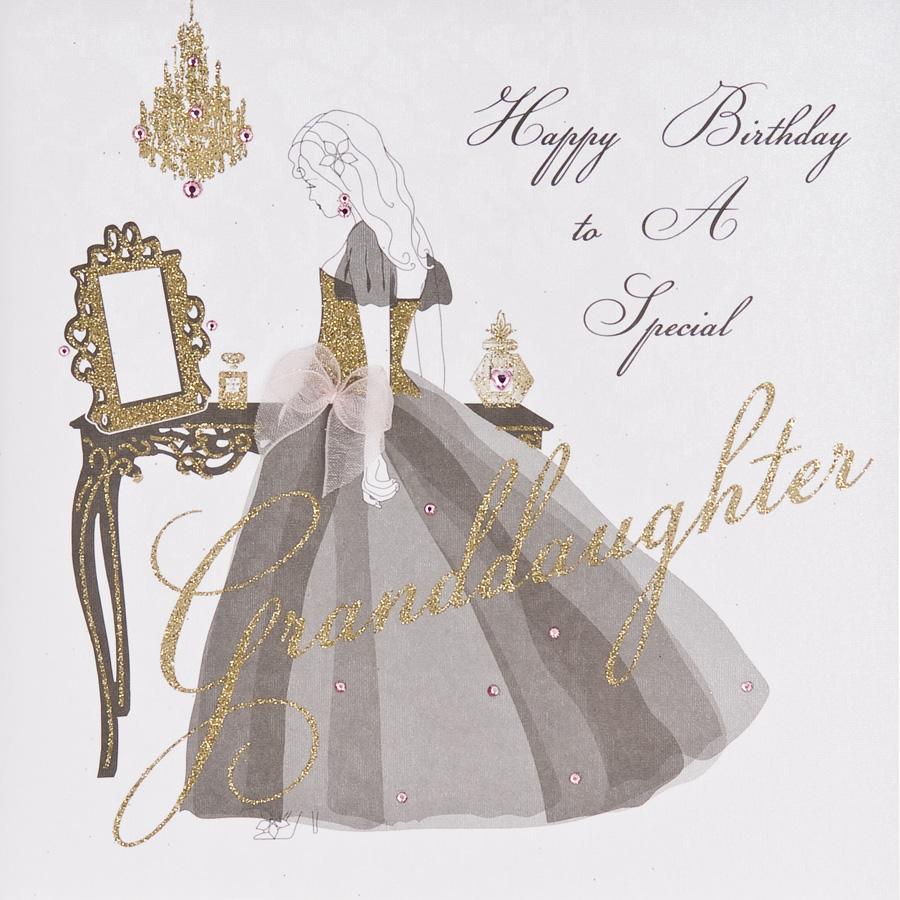 Special Granddaughter Handmade Birthday Card ET32
