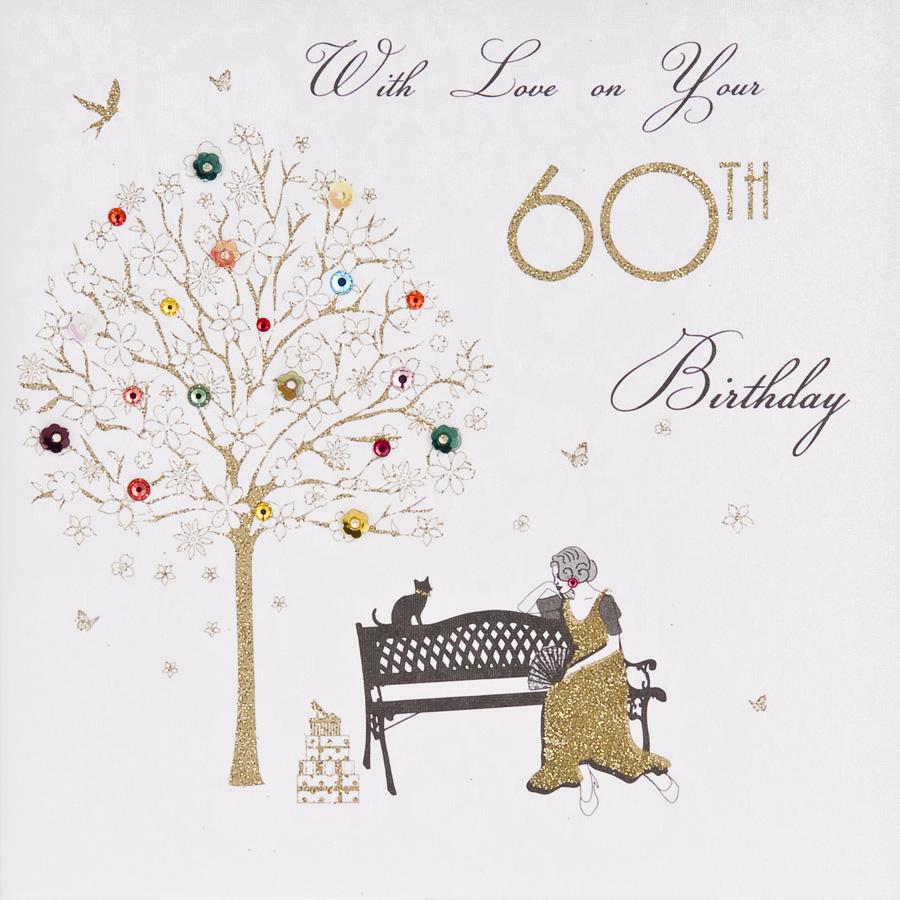 60th Birthday Handmade Card ET43