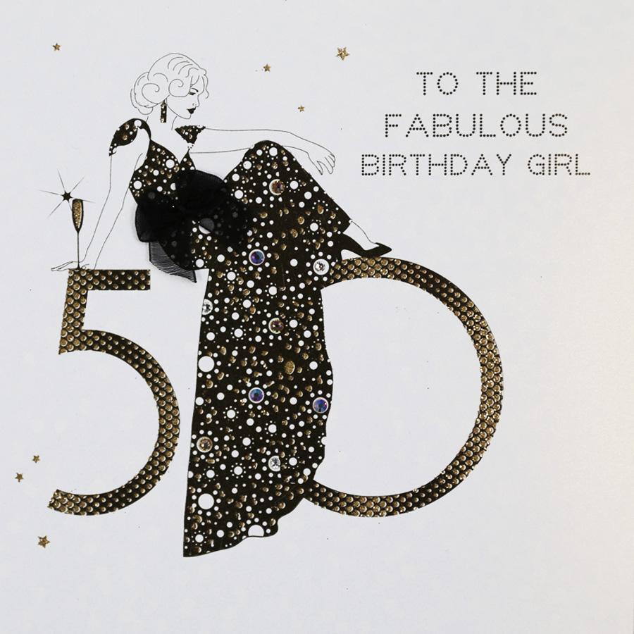 50th Birthday Card AG15 Sale