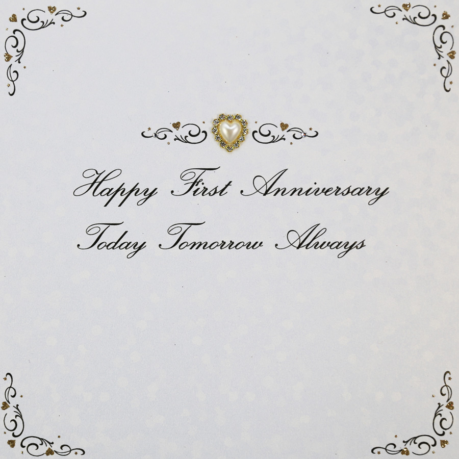 Happy First Anniversary Handmade Anniversary Card Ag36 Tilt Art