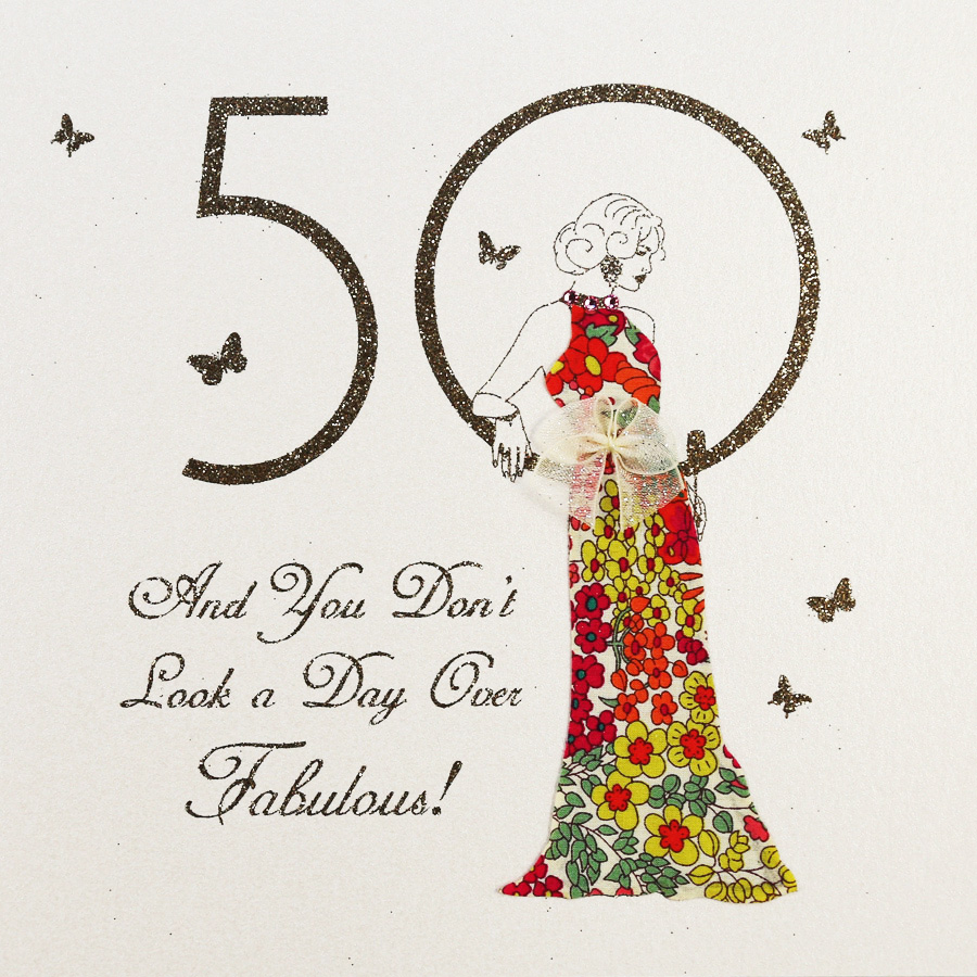 Handmade 50th Birthday Card MB27 Sale