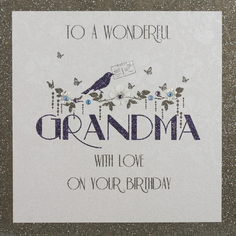 Homemade Birthday Cards For Grandma ~ To a wonderful grandma handmade birthday card bh tilt art