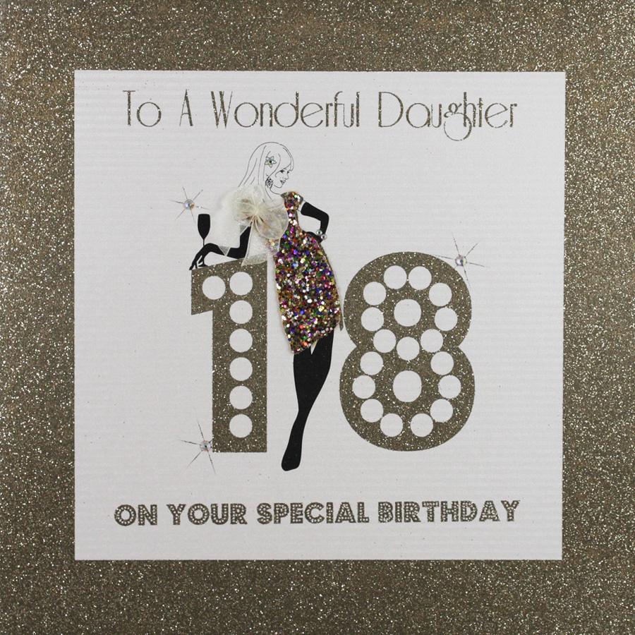 To A Wonderful Daughter Large Handmade 18th Birthday Card GA21