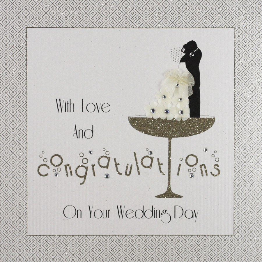 Congratulations On Your Wedding Day.Congratulations On Your Wedding Day Large Handmade Wedding Card