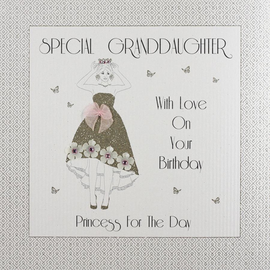 Special Granddaughter Large Handmade Birthday Card GA46