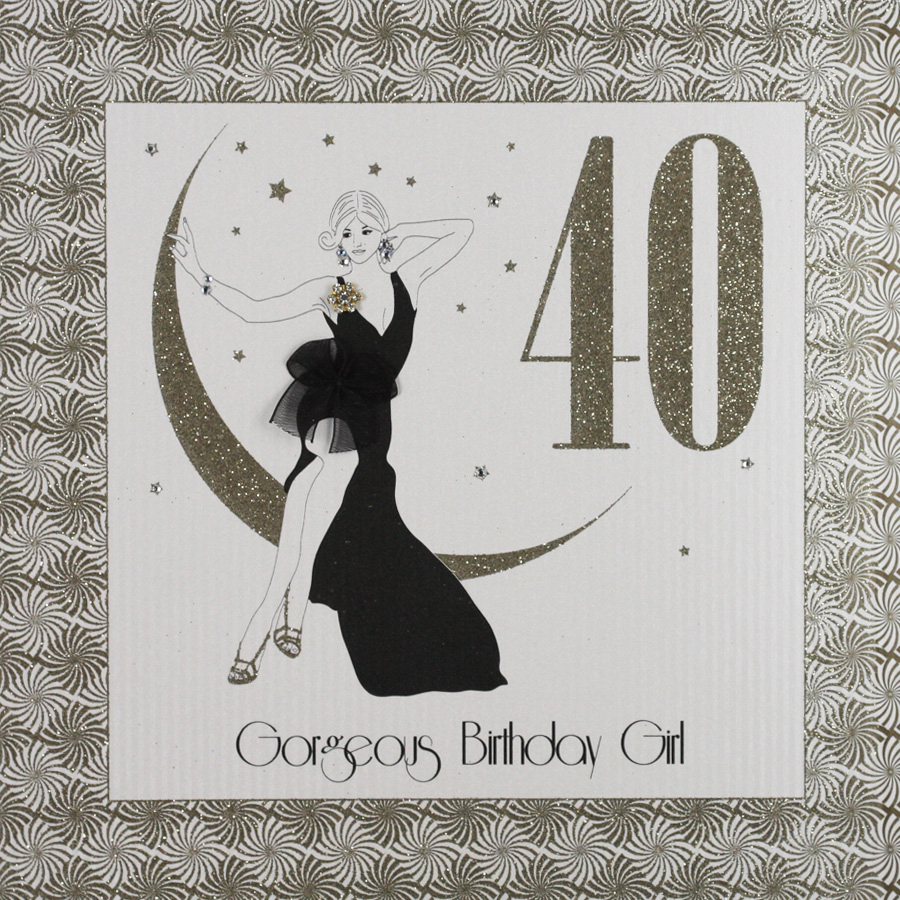 Handmade 40th Birthday Card GA5 Sale