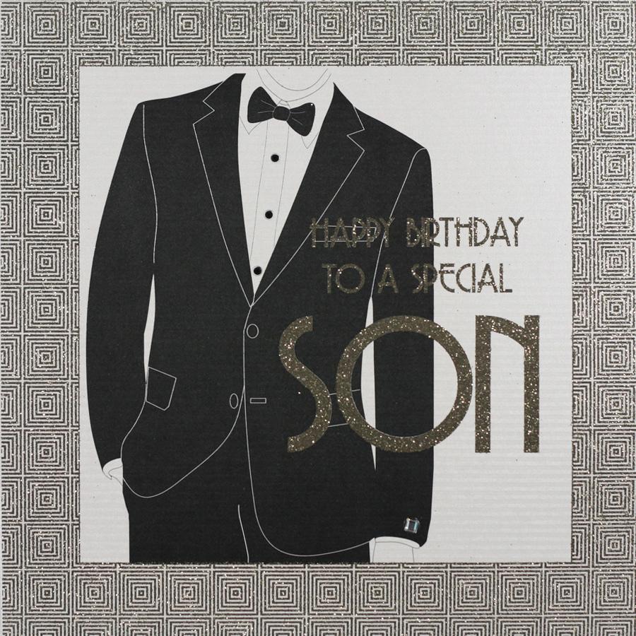 Son Large Handmade Birthday Card GA56