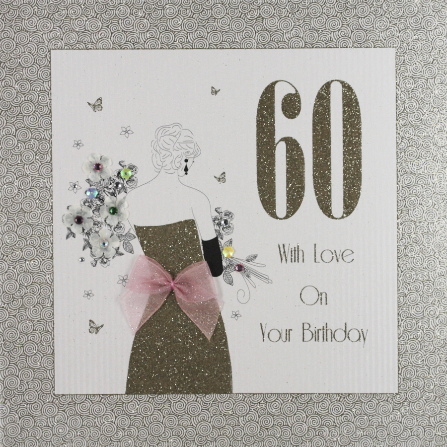 Handmade 60th Birthday Card GA9 Sale