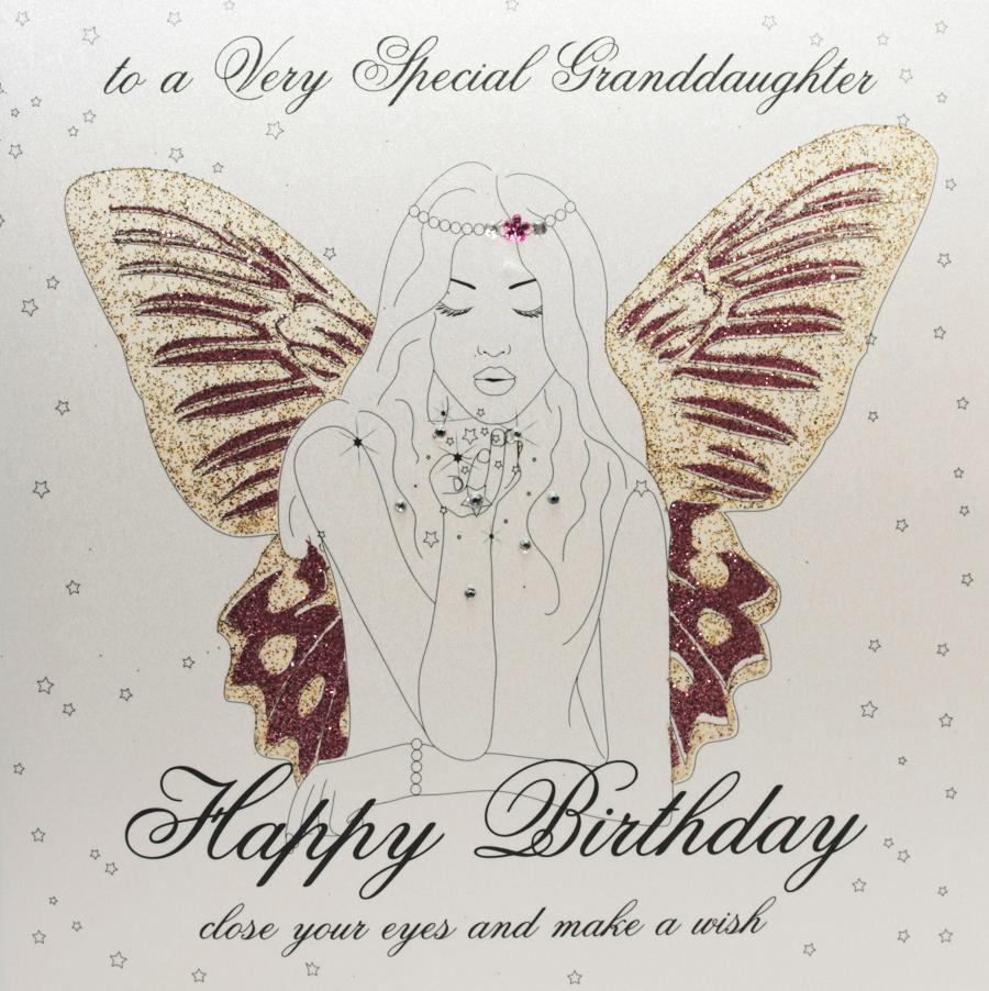 Granddaughter Handmade Birthday Card GO13 Sale