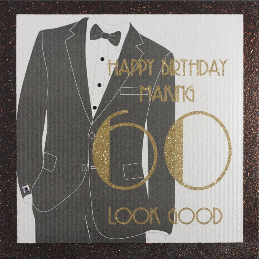 Handmade 60th Birthday Card TUX5 Sale