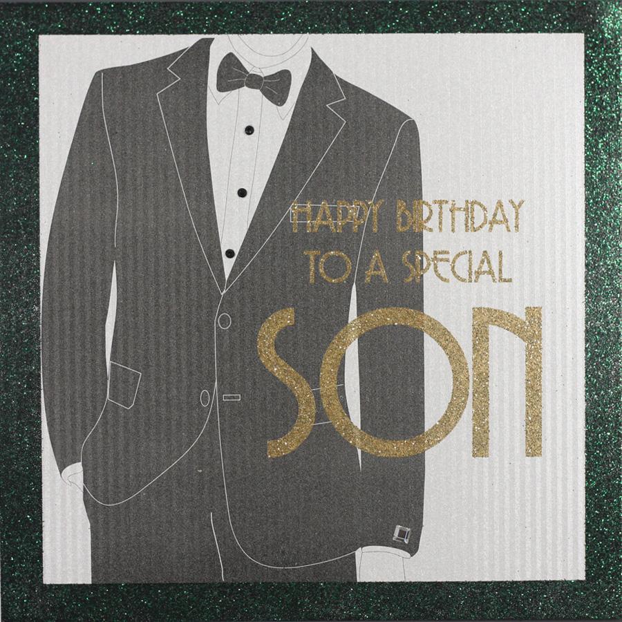 Son Handmade Birthday Card TUX7