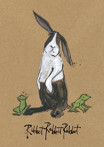 Ribbet rabbit ribbet open greeting card by sam toft st1175 ribbet rabbit ribbet open greeting card by sam toft st1175 m4hsunfo