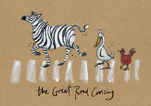The great road crossing open greeting card by sam toft st1180 the great road crossing open greeting card by sam toft st1180 m4hsunfo