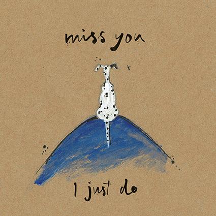 Miss you open greeting card by sam toft st1532 tilt art m4hsunfo