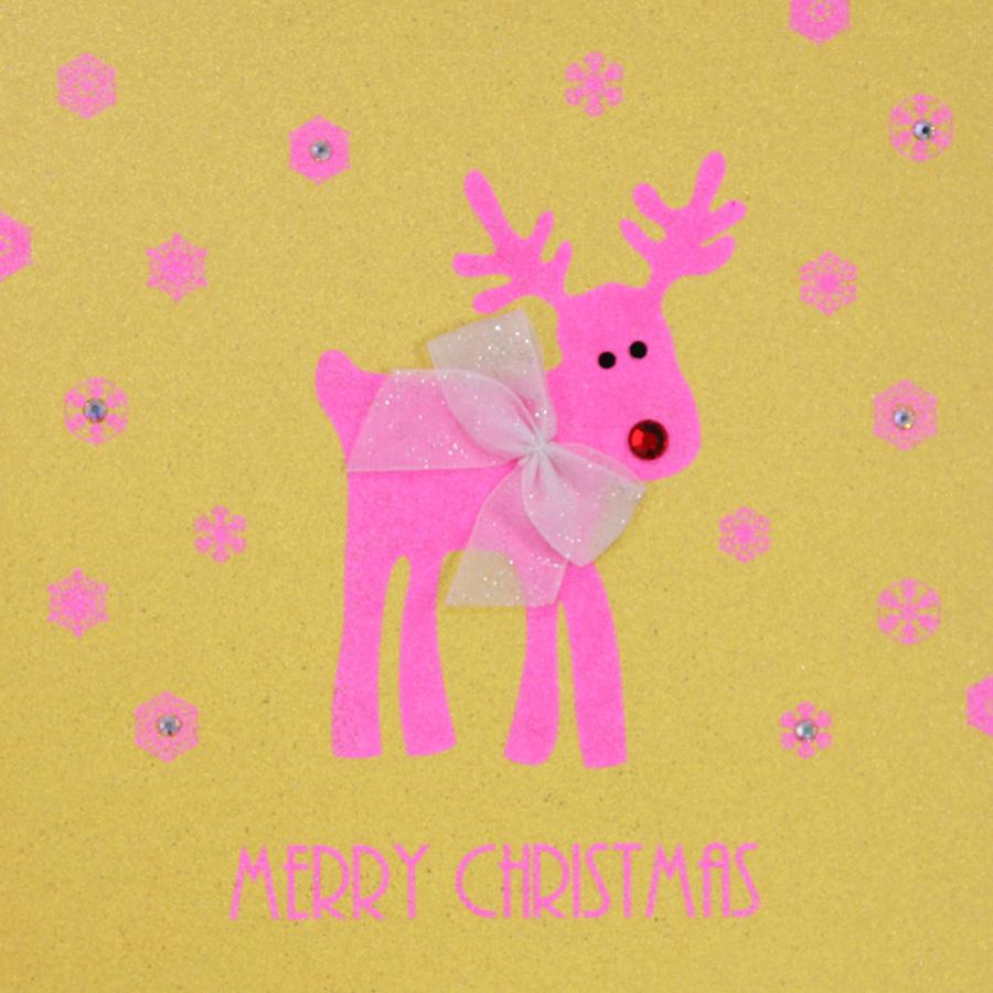Merry Christmas - Handmade Open Christmas Card - ST5 - Tilt Art