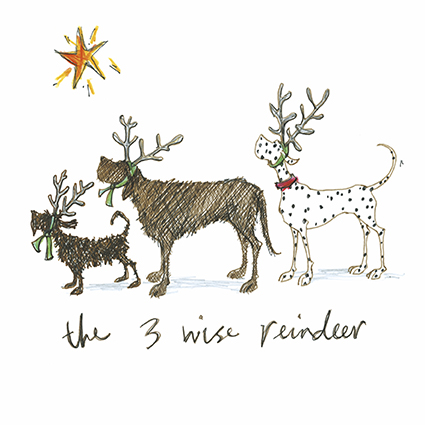 Fine art cards page 3 of 5 tilt art the three wise reindeer sam toft open christmas card xst1075 m4hsunfo