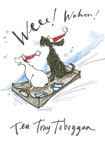 Tea tray toboggan sam toft open christmas card xst772 tilt art tea tray toboggan sam toft open christmas card xst772 m4hsunfo