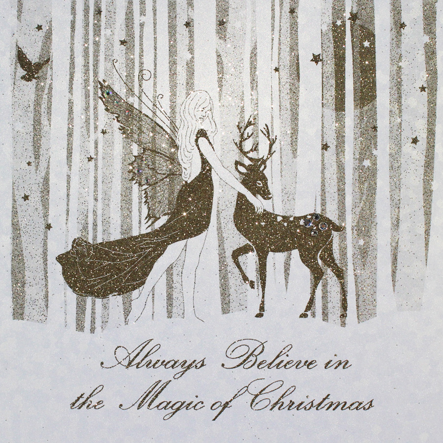 Magic Of Christmas.Always Believe In The Magic Of Christmas Handmade Open Christmas Card Ef7