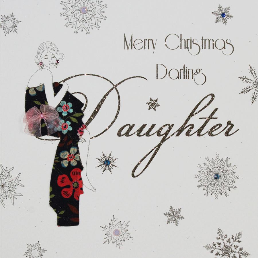 Merry Christmas Darling.Merry Christmas Darling Daughter Handmade Christmas Card Mbx15