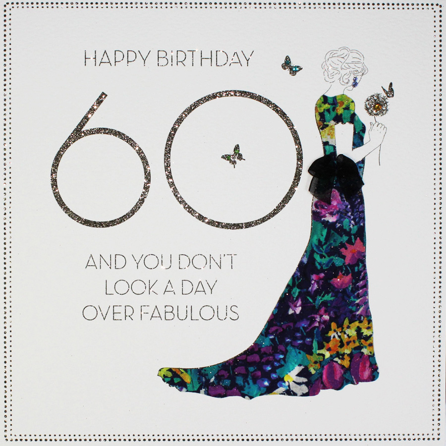 Large Handmade 60th Birthday Card BLY10 Sale