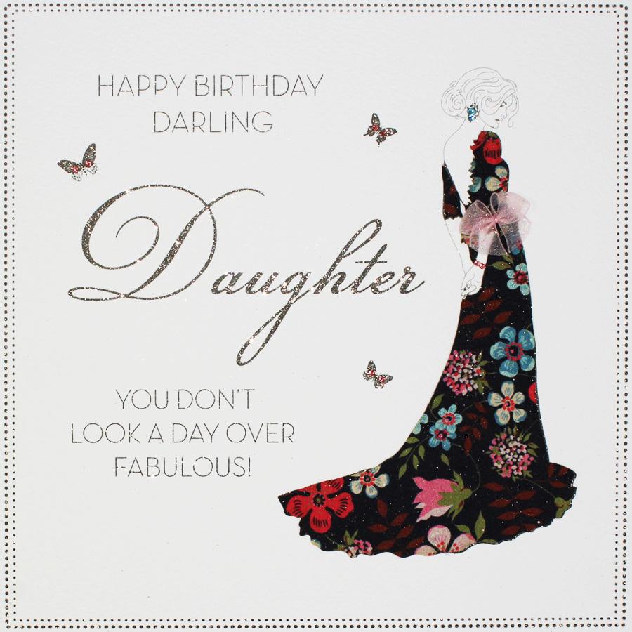 Happy Birthday Darling Daughter - Large Handmade Birthday Card - BLY18