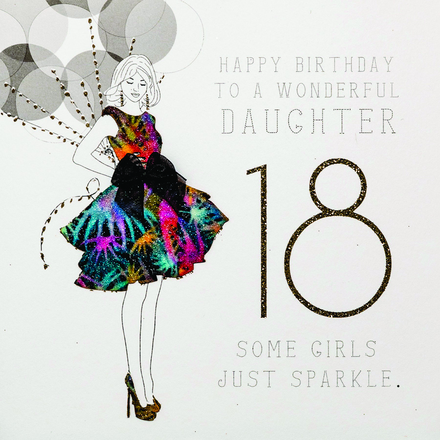 Daughter Handmade 18th Birthday Card RB22 Sale