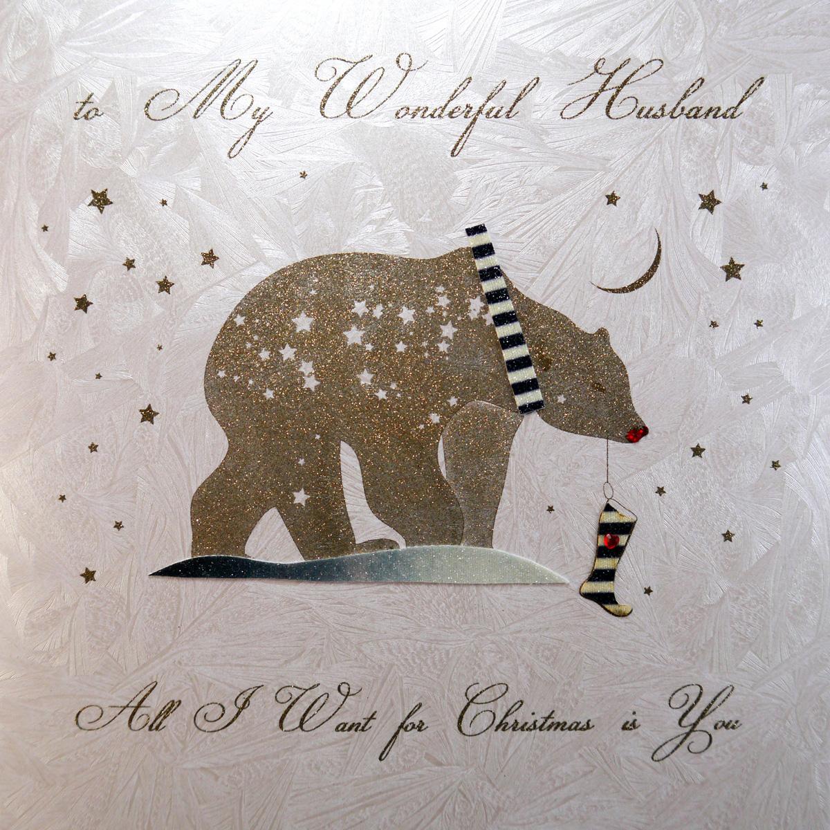 to my wonderful husband  large handmade christmas card