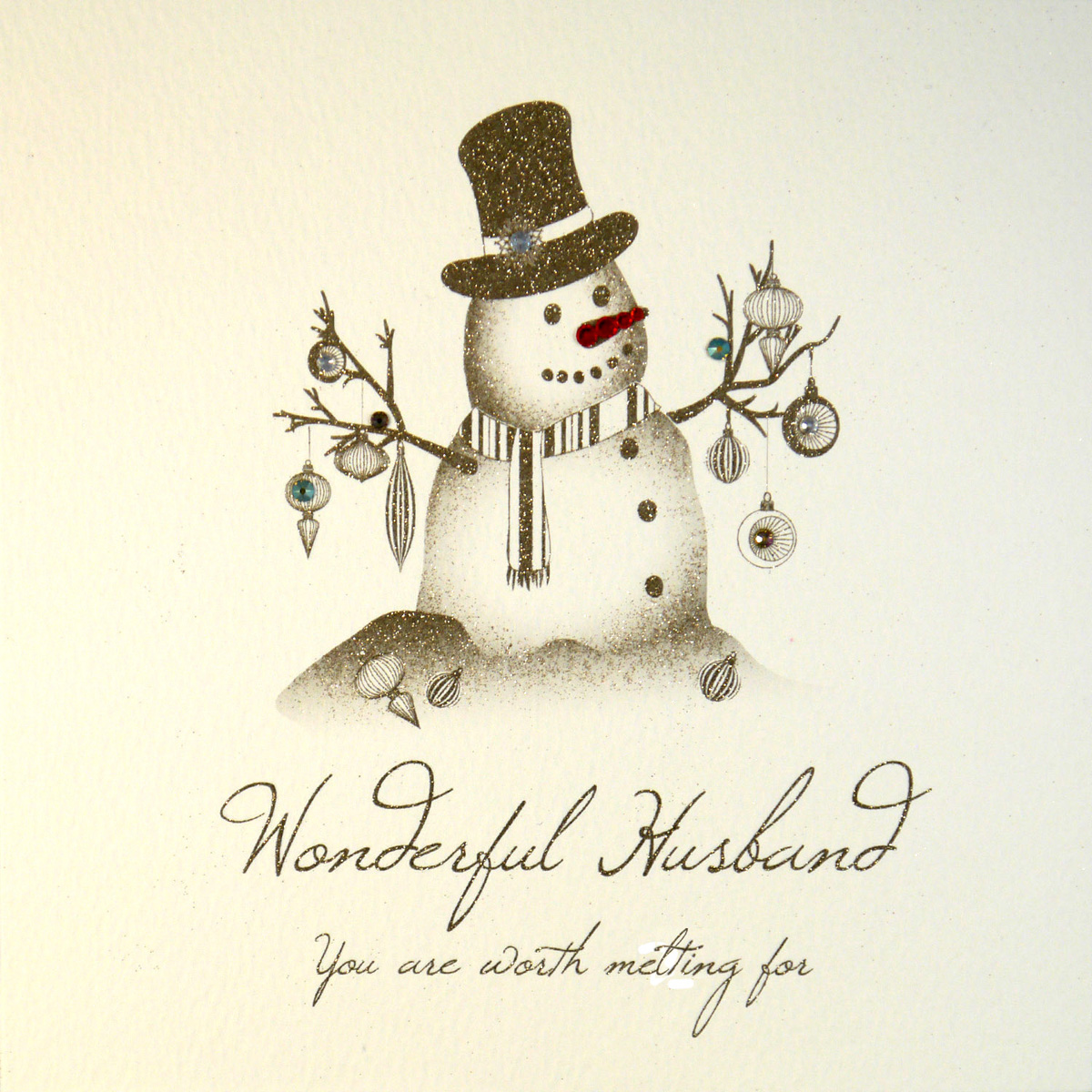 Husband Christmas Cards.Wonderful Husband Handmade Christmas Card Qw18
