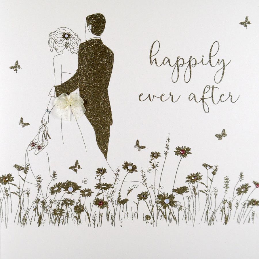 Happily Ever After Large Handmade Wedding Card Rad19 Tilt Art