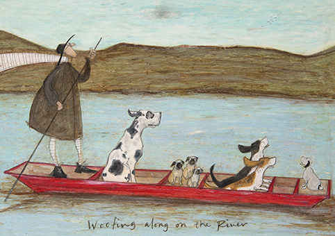 Woofing along on the river sam toft open greeting card st2244 woofing along on the river sam toft open greeting card st2244 tilt art m4hsunfo