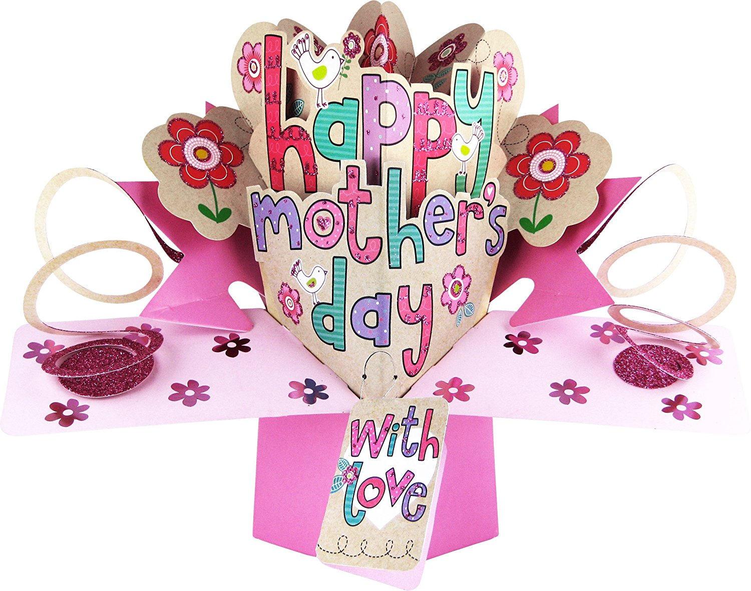 happy mother s day lettering mother s day pop up card mpop004