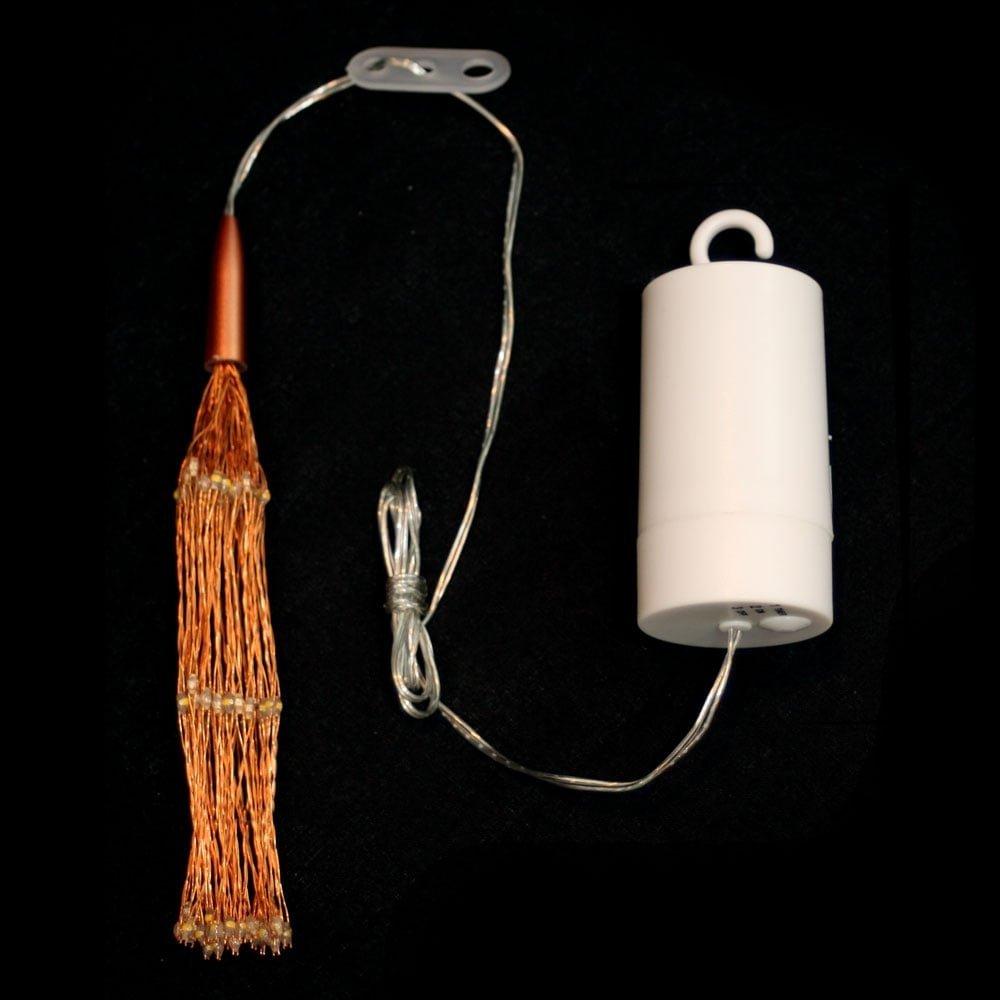 LED Starburst Silver Lamp 30cm Battery