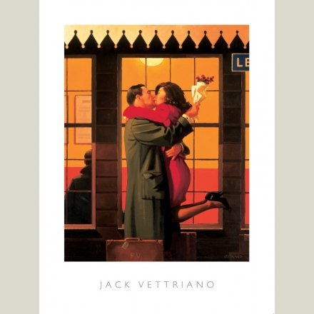Art Print 50x70cm Jack Vettriano Rumba in Black