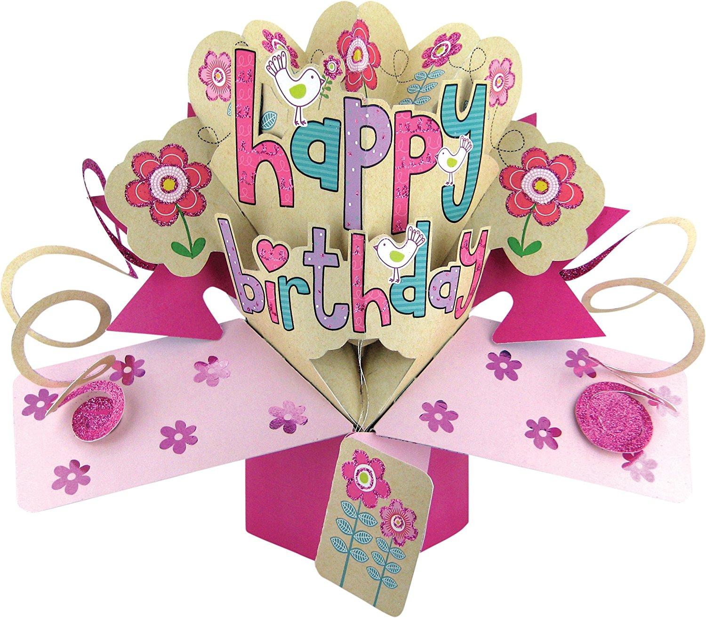 amazoncom unomor happy birthday card 3 layers cake pop