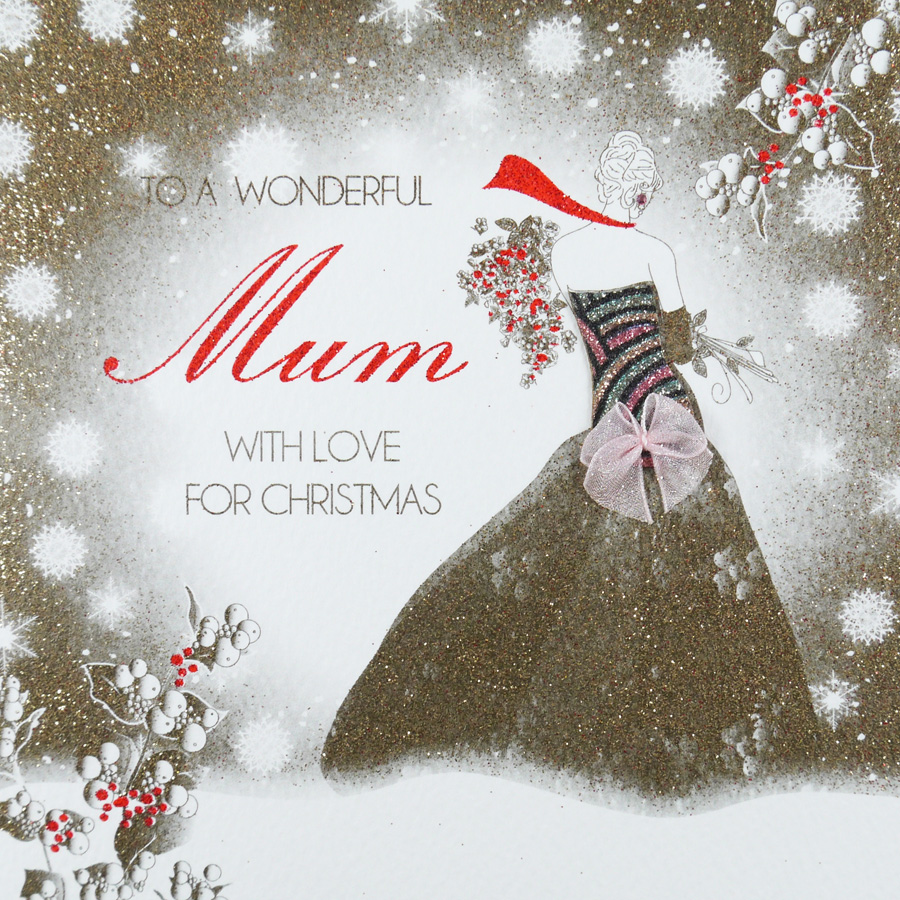 Handmade Christmas Card Images.To A Wonderful Mum Handmade Christmas Card Acv19