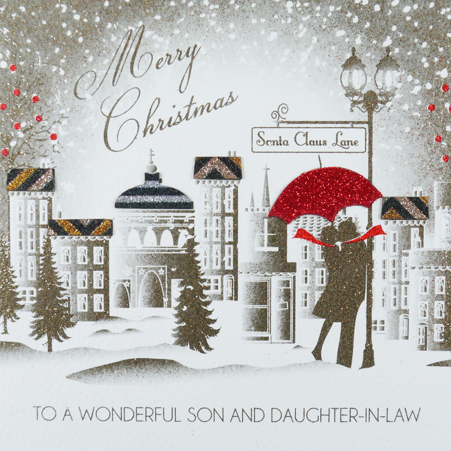 To a Wonderful Son & Daughter-in-Law - Handmade Christmas Card ...