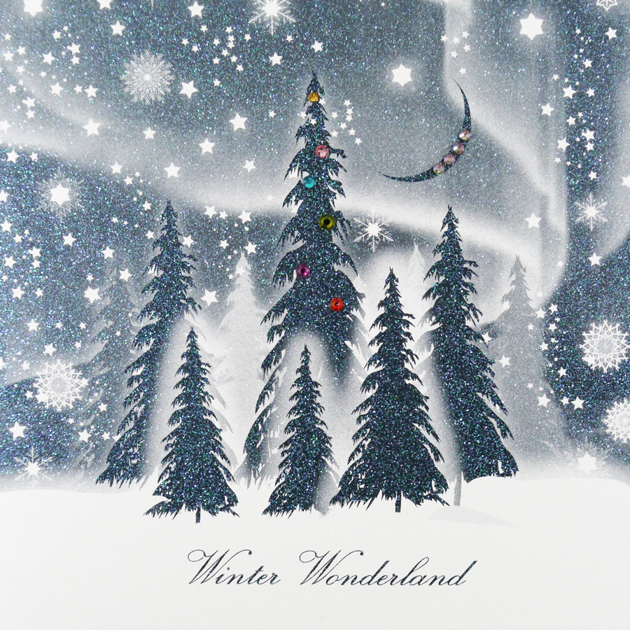 Winter Wonderland Handmade Open Christmas Card Cym10 Tilt Art