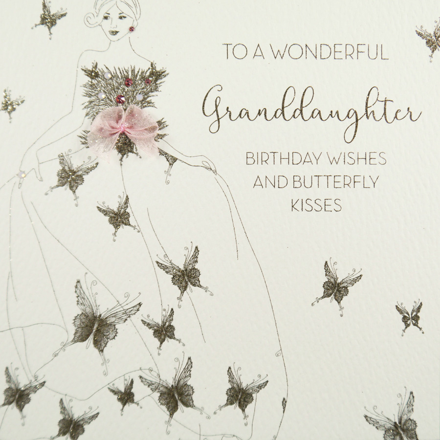 To A Wonderful Granddaughter Handmade Birthday Card GS62