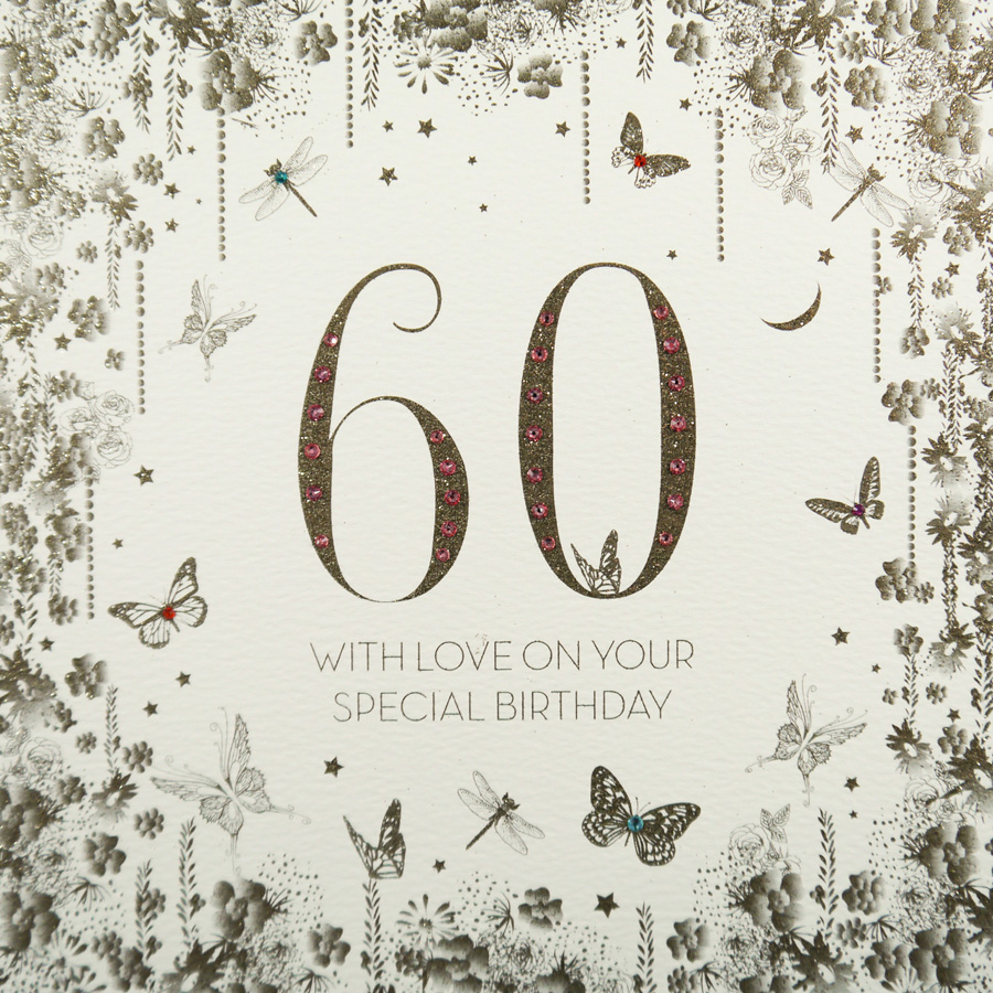 Handmade 60th Birthday Card GSL10 Sale