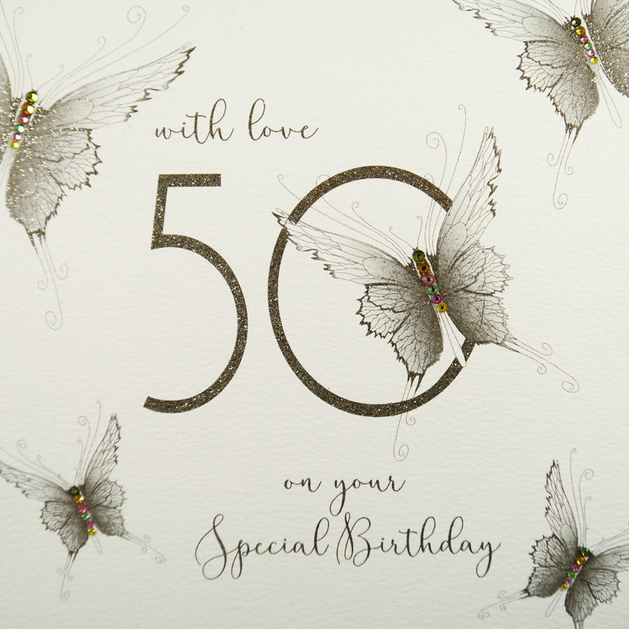 Large Handmade 50th Birthday Card GSL8 Sale