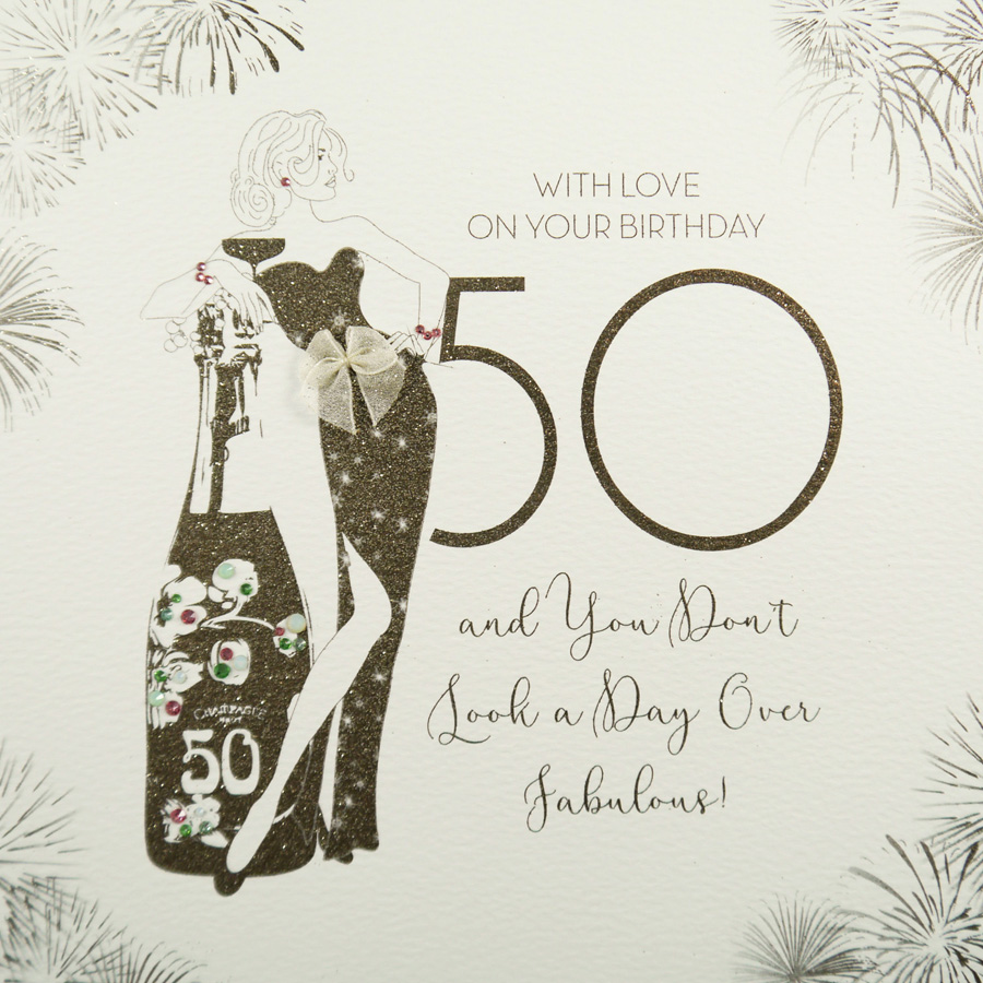 Handmade 50th Birthday Card GSL9