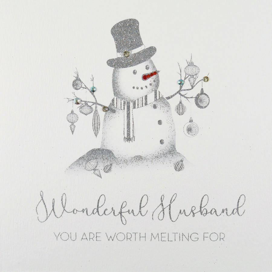 Husband Christmas Cards Uk.Wonderful Husband Handmade Christmas Card Ic19
