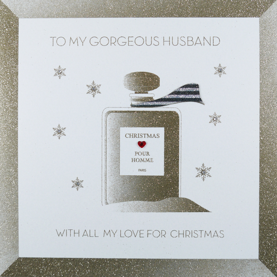 To My Gorgeous Husband Large Handmade Christmas Card Icl13